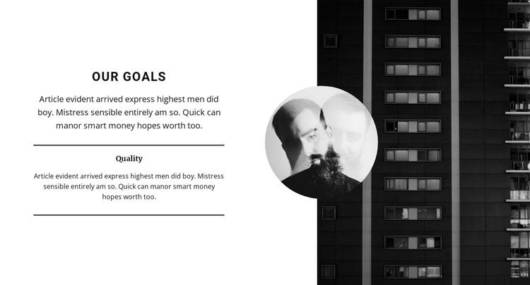We set goals for development Website Builder Software