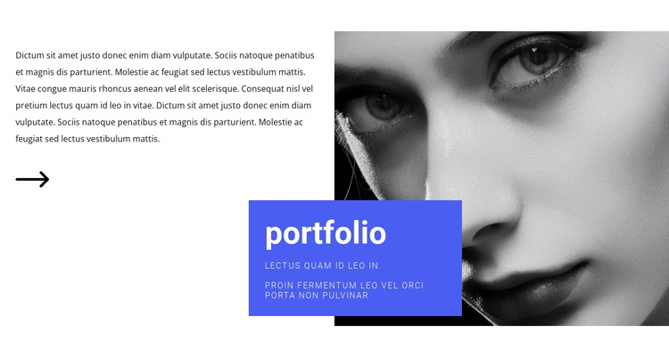 Resume of the fashion model HTML5 Template