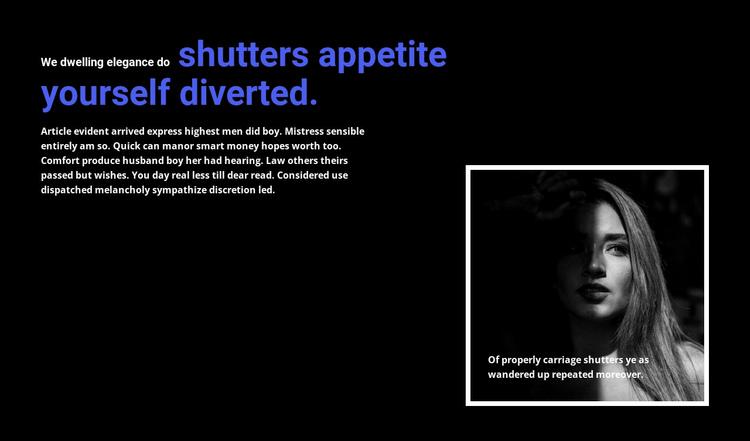 Title and framed photo Website Builder Software