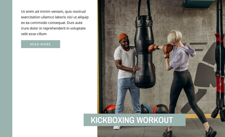 Kickboxing training HTML Template