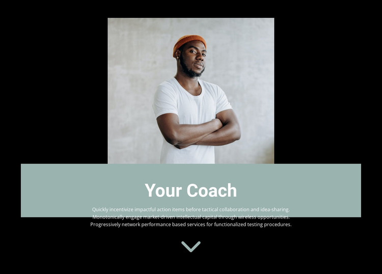 How to choose a trainer HTML Template