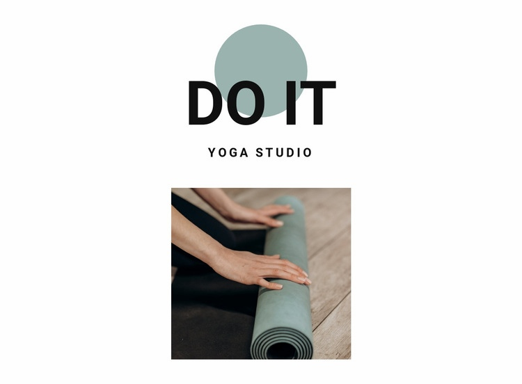How to start doing yoga Web Page Design