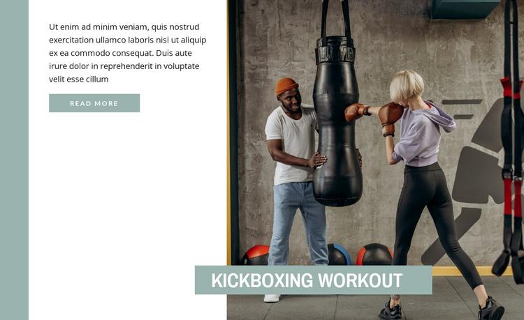 Kickboxing training Website Builder Software