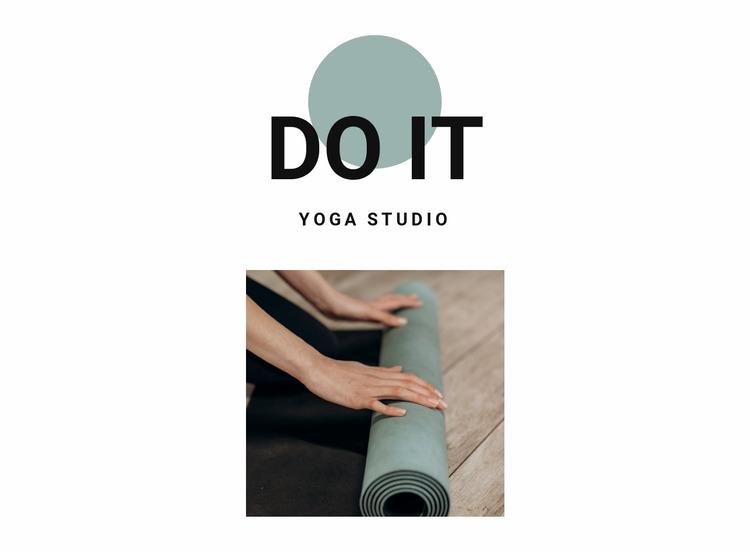 How to start doing yoga Website Mockup
