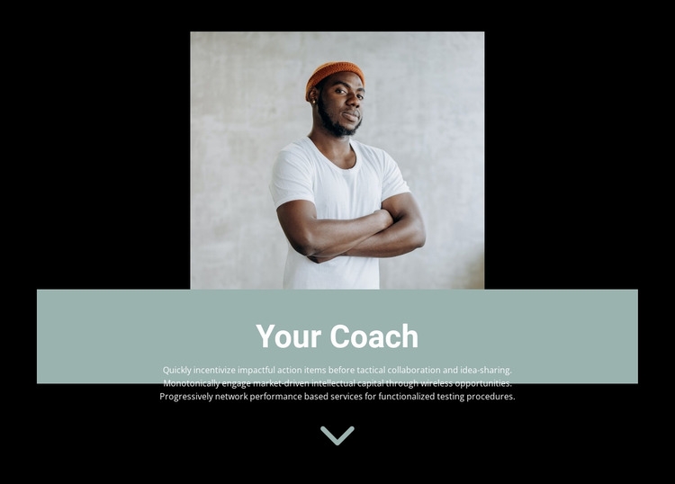 How to choose a trainer Website Mockup
