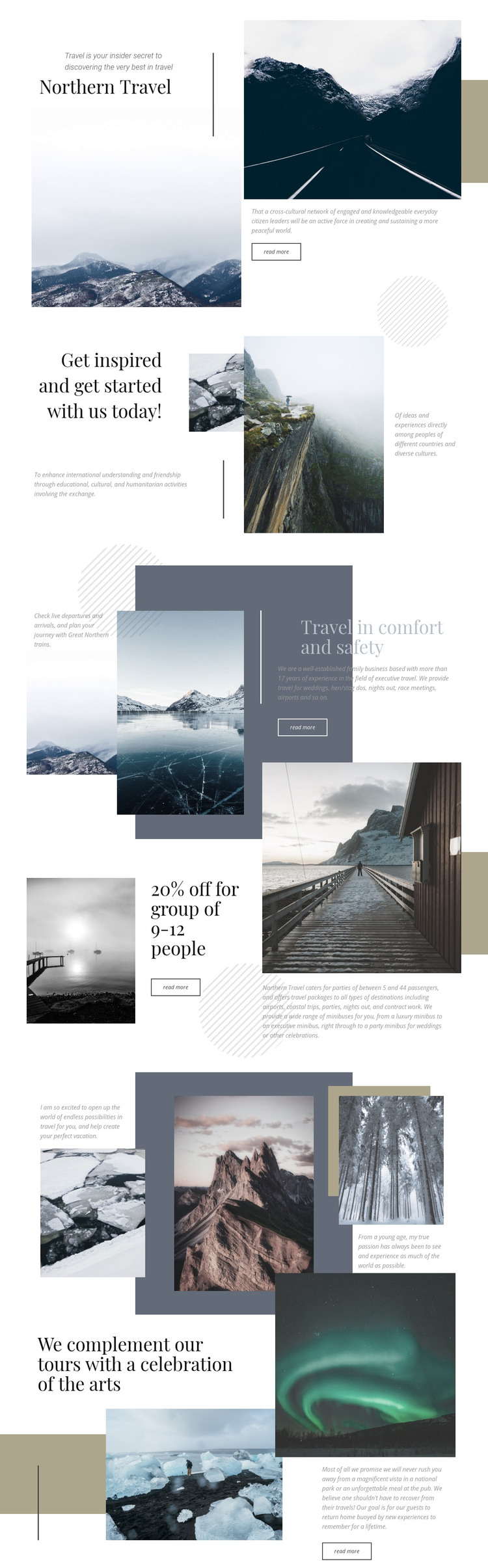 Northern Travel Homepage Design