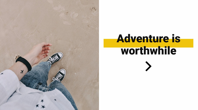 Fragments from travel Website Template