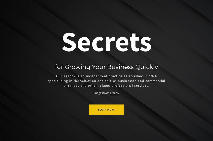 Secrets of growing your business Html Code