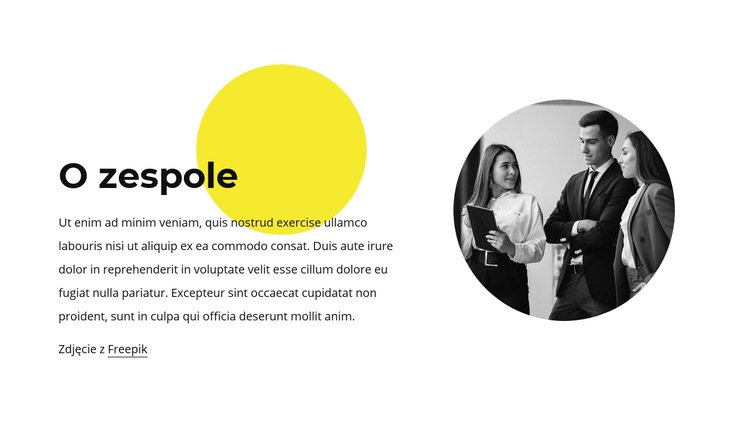 O naszym zespole Szablon witryny sieci Web