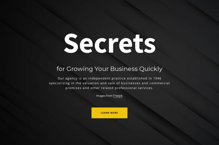 Secrets of growing your business Web Page Designer