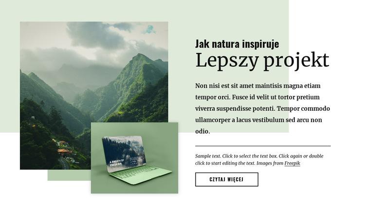 Natura inspiruje lepsze wzornictwo Szablon witryny sieci Web