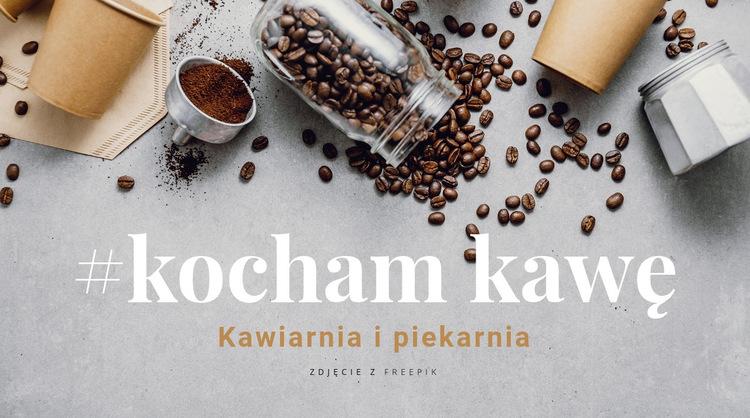 Kawiarnia i piekarnia Szablon witryny sieci Web