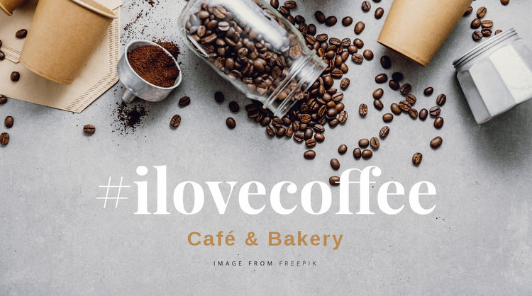 Cafe and bakery Website Mockup