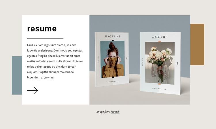 Describe your graphic design experience Joomla Template