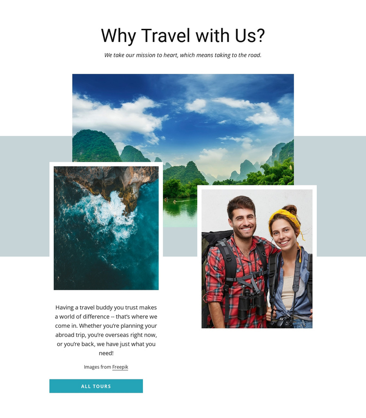 Personal touur guides Website Builder Software