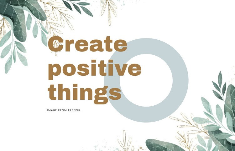 Creative positive things Web Page Design