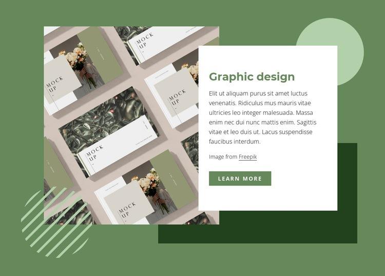 Creative graphic design Web Page Design