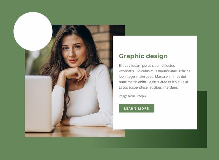 Graphic design Website Template