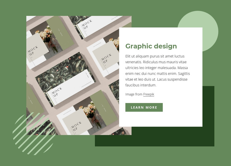 Creative graphic design WordPress Theme