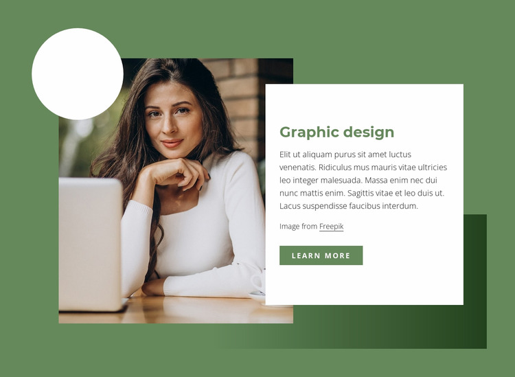 Graphic design WordPress Website Builder