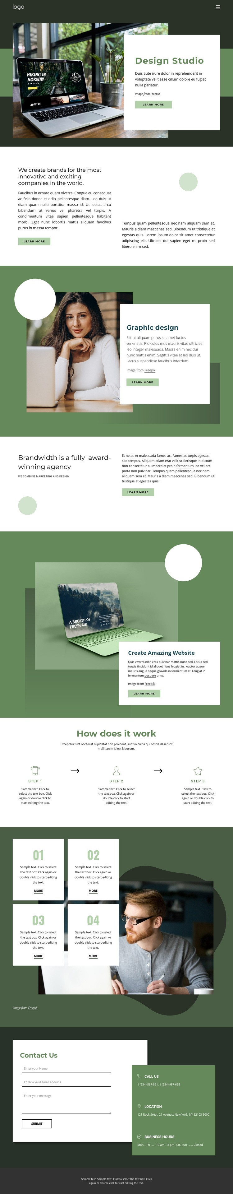 Design inspiration from nature Web Page Design