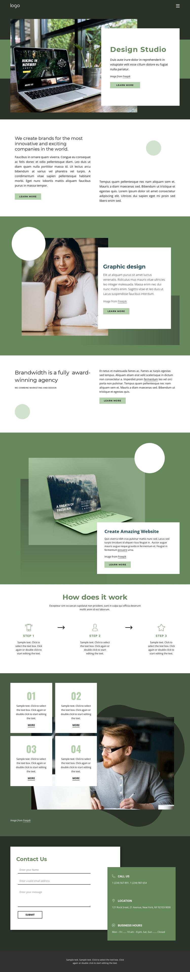 Design inspiration from nature Website Builder Software