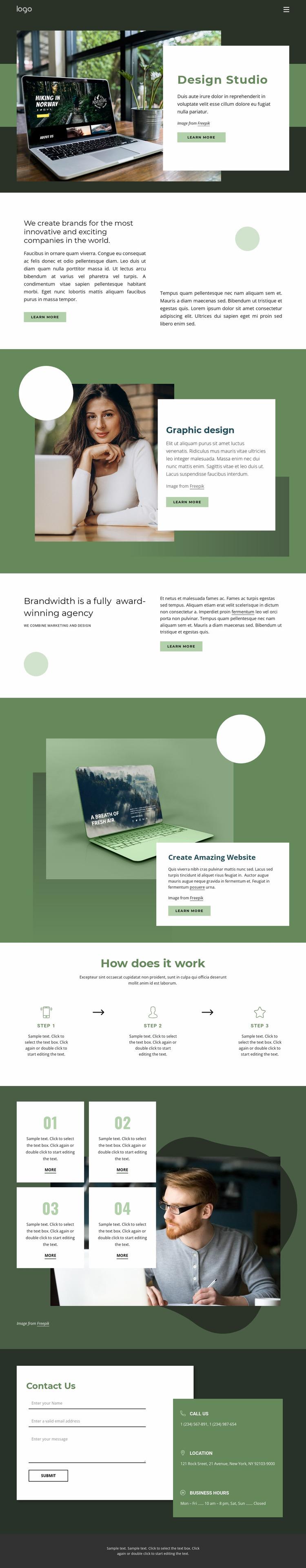 Design inspiration from nature Website Mockup