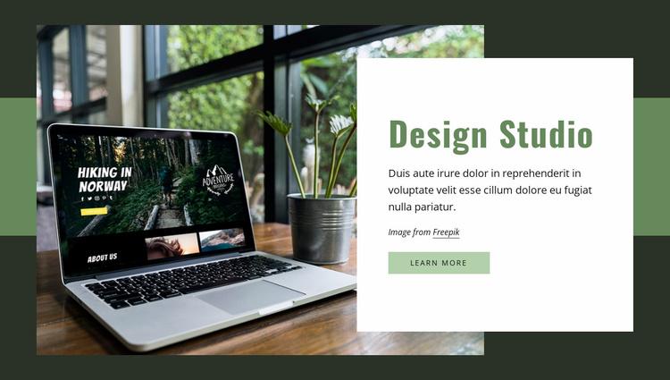 We create websites, apps, graphics Website Template