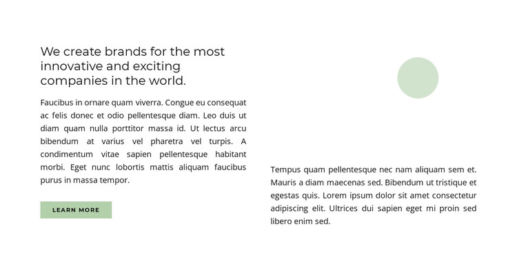 We create brands HTML Template