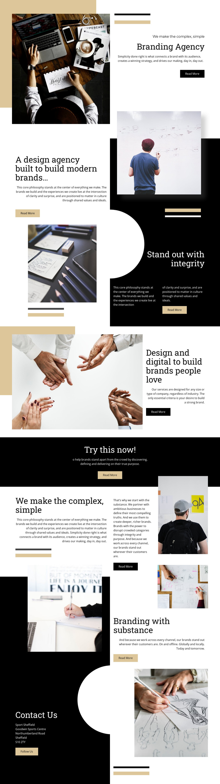 Branding Agency One Page Template