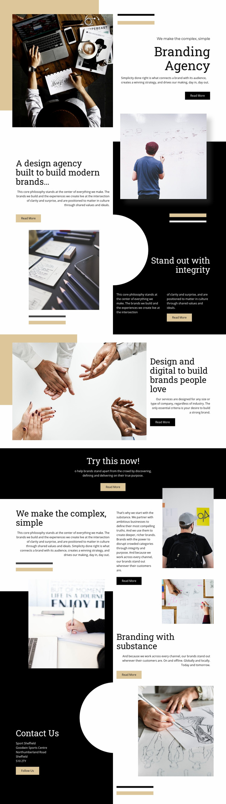 Branding Agency Web Page Design