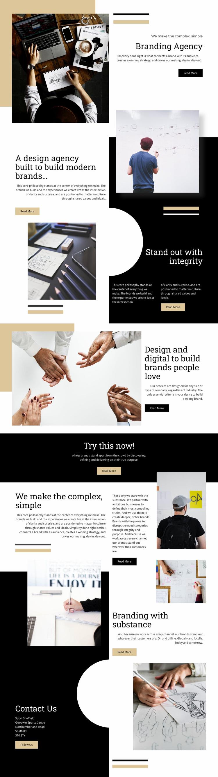 Branding Agency Website Design