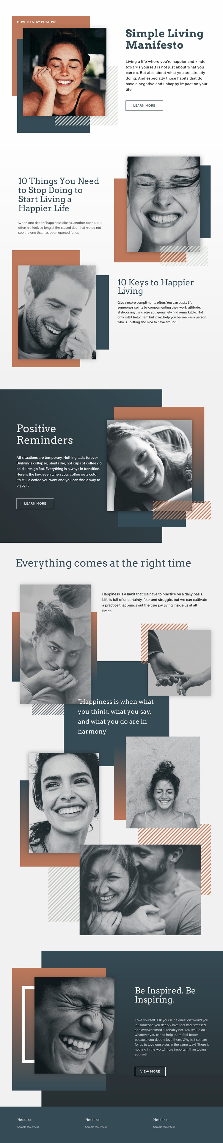 Simple Living Light Landing Page