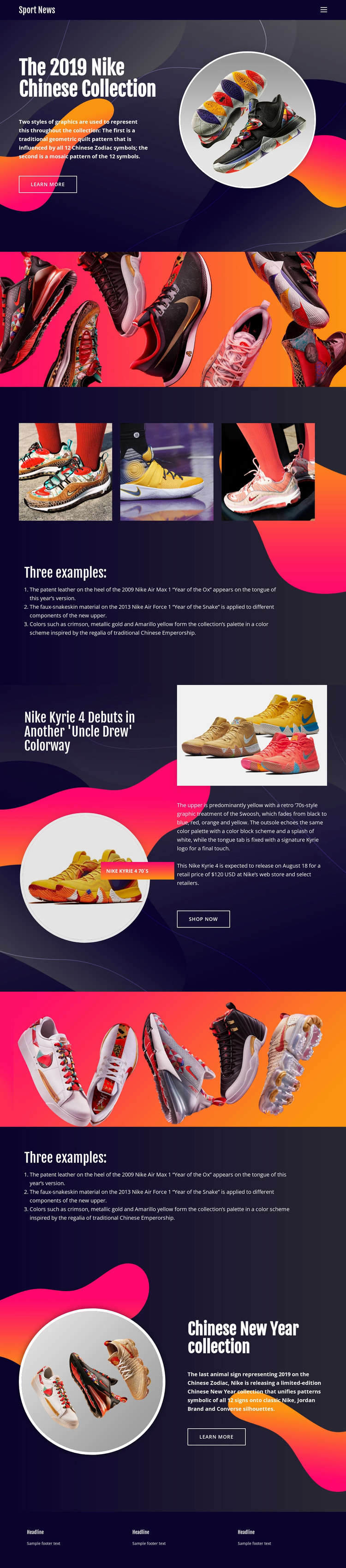 Nike Collection WordPress Theme