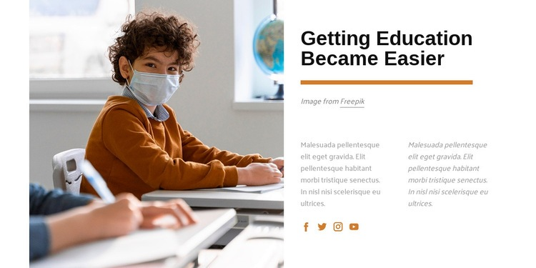 Getting education became easier Web Page Design
