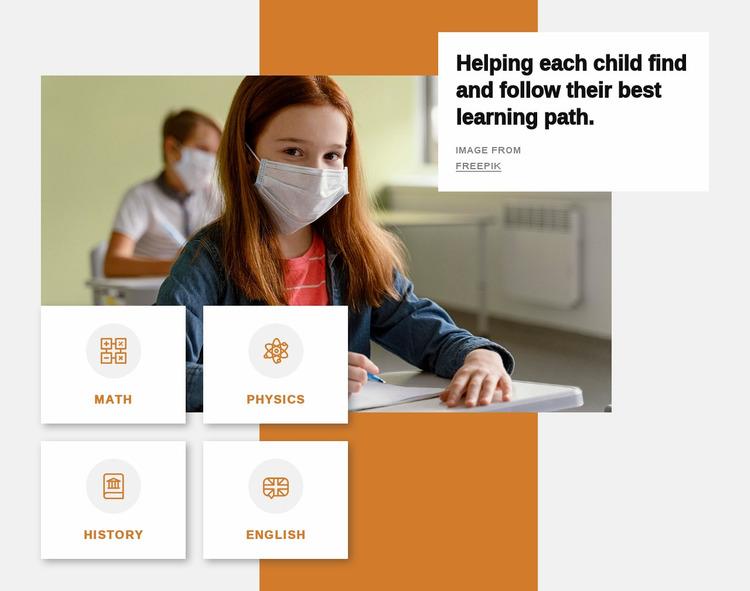 Best learning path Website Mockup