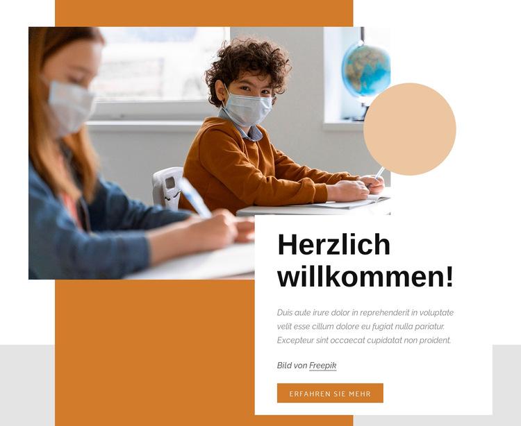 Lustige wissenschaftliche Experimente Website-Vorlage