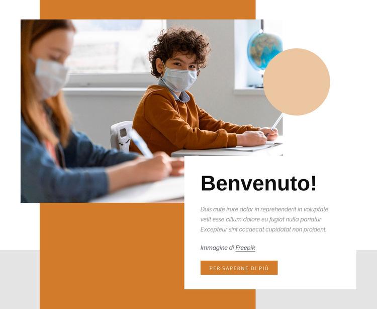 Divertenti esperimenti scientifici Modello di sito Web