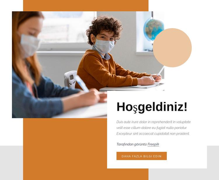 Eğlenceli bilim deneyleri Web Sitesi Şablonu