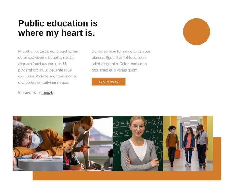 Public education Html Code Example