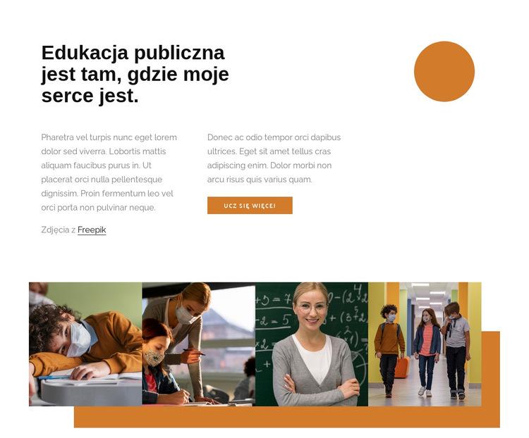 Edukacja publiczna Szablon witryny sieci Web