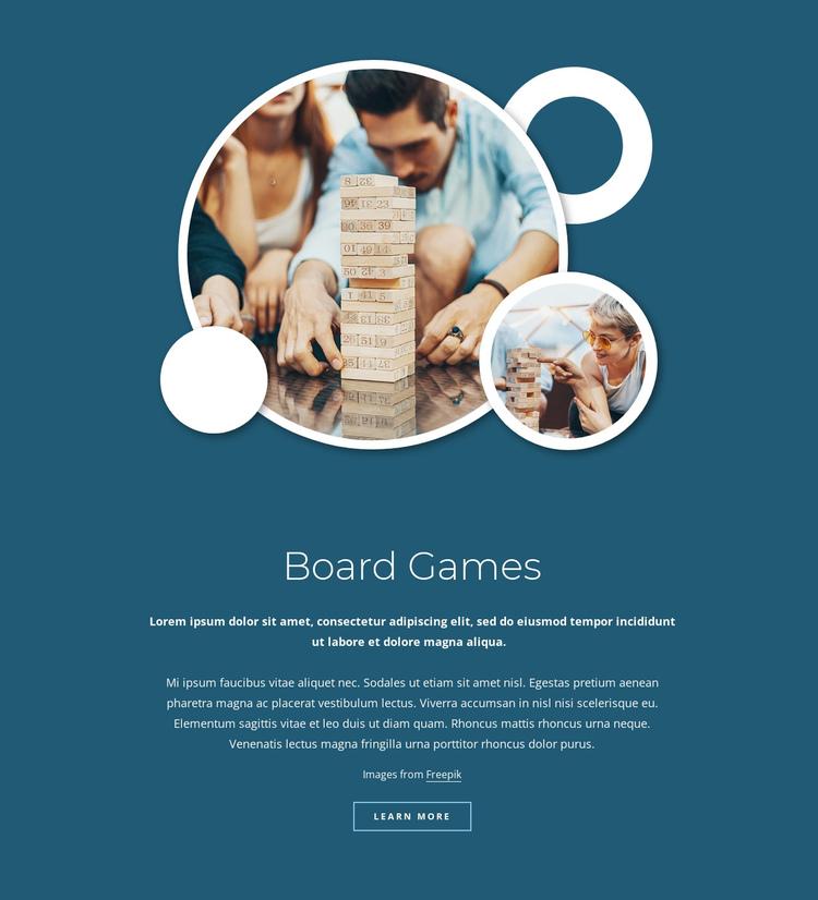 Board games Website Builder Software