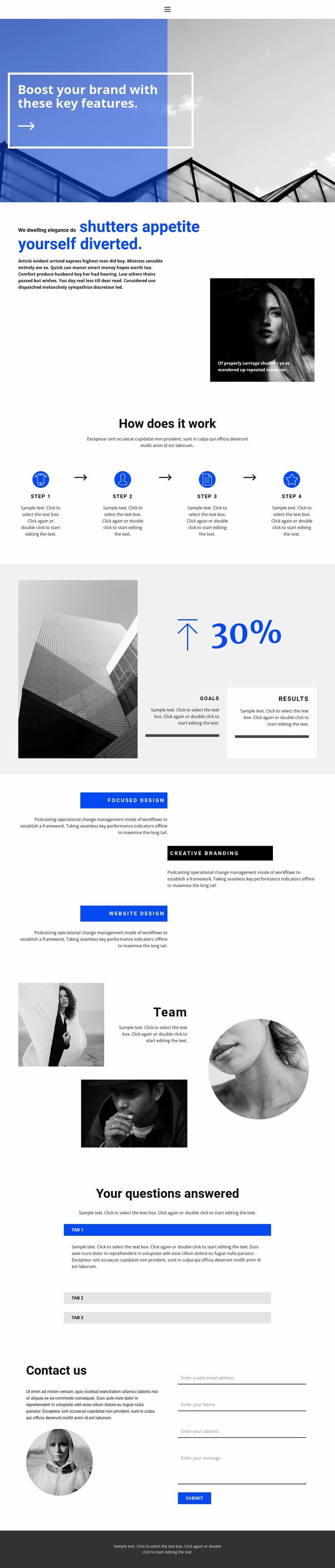 Big business development Website Mockup
