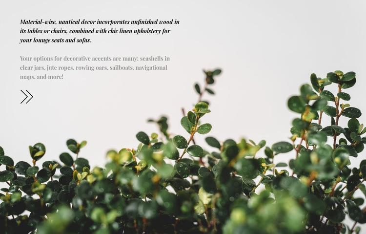Plant care Web Page Design