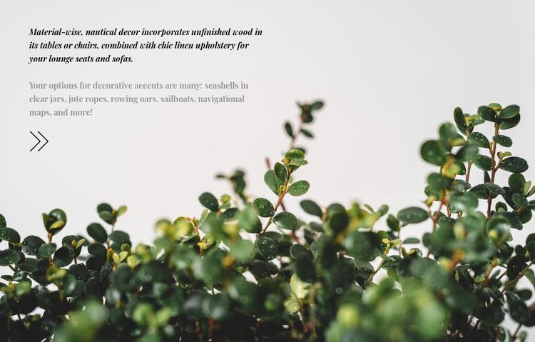 Plant care WordPress Website Builder