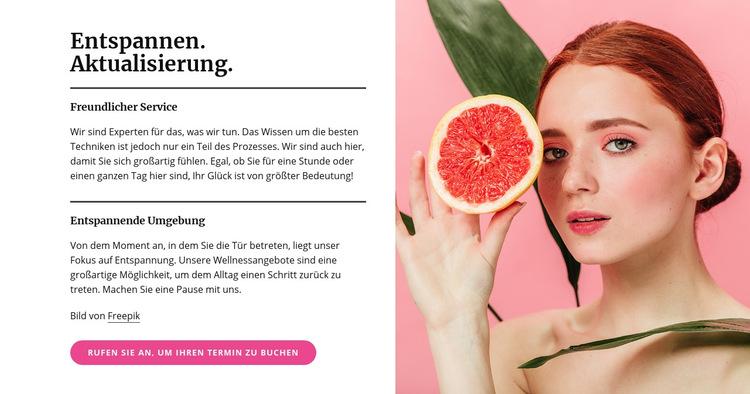 Maniküre, Pediküre, Gesichtsbehandlung und Hautbehandlungen Website-Vorlage
