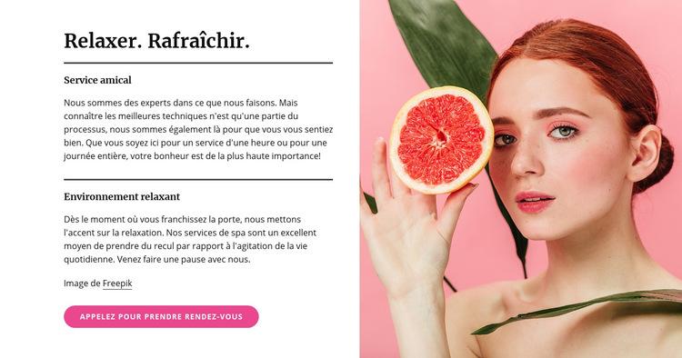 Manucures, pédicures, soins du visage et soins de la peau Modèle de site Web