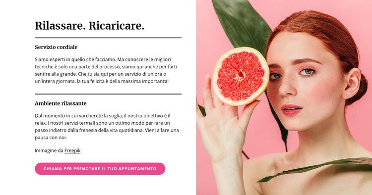 Manicure, pedicure, trattamenti per il viso e trattamenti per la pelle Modello di sito Web