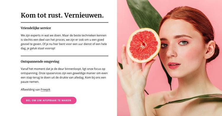 Manicures, pedicures, gezichtsbehandelingen en huidbehandelingen Website sjabloon