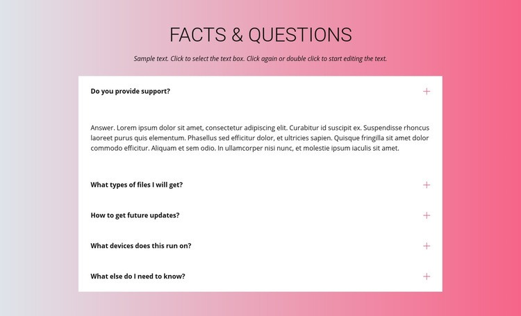 Your questions Web Page Design